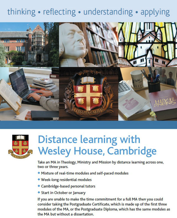 Wesley House Distance Learning